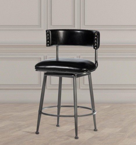 Kinsella Commercial Grade Swivel Counter Stool - Charcoal