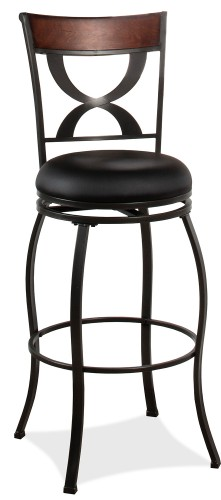 Stockport Swivel Bar Height Stool - Pewter