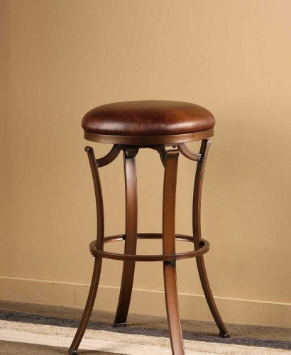Kelford Backless Swivel Bar Stool - Antique Bronze