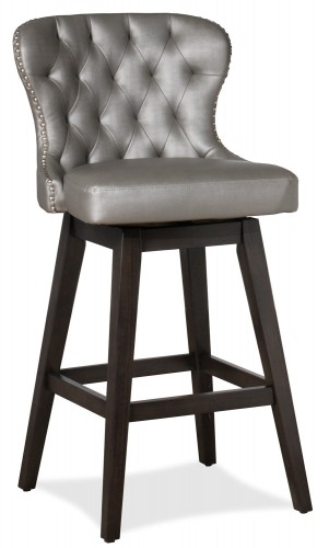 Rosabella Swivel Counter Stool - Charcoal