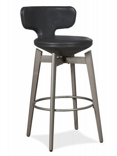 Genesis Swivel Counter Stool - Pewter