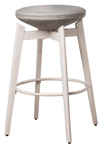 Genesis Backless Swivel Counter Stool - White