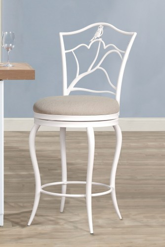 Avienne Swivel Counter Stool - White