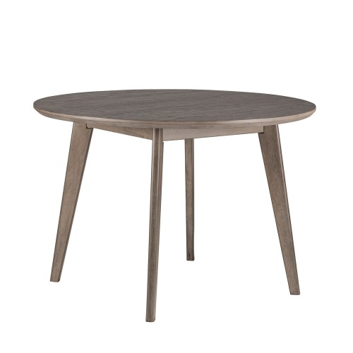 Alden Bay Modern Round Wood Dining Table - Weathered Gray