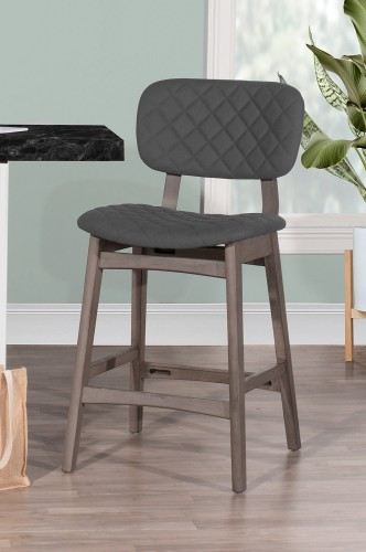 Alden Bay Modern Diamond Stitch Counter Height Stool - Weathered Gray