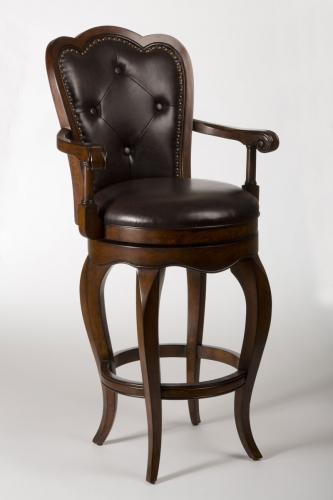 Eastwind Swivel Counter Stool - Dark Cherry