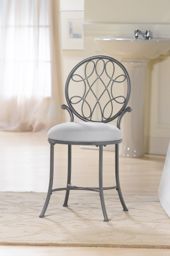 O'Malley Vanity Stool - Gray