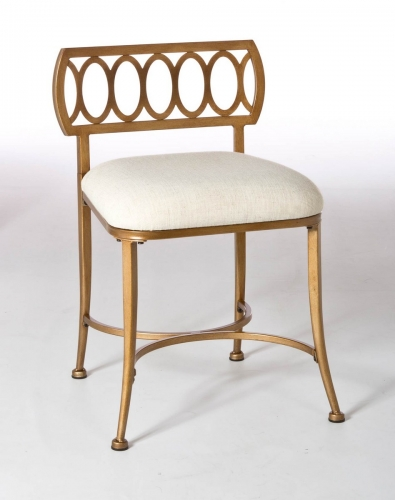 Canal Street Vanity Stool - Gold Bronze