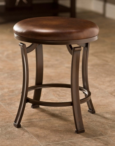 Hastings Backless Vanity Stool - Antique Bronze