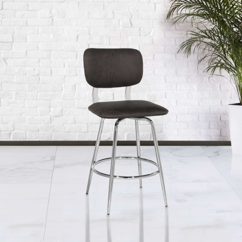 Bloomfield Retro Metal Swivel Counter Height Stool - Chrome- Set of 2