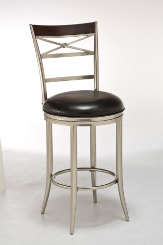 Kilgore Swivel Bar Stool - Dull Nickel