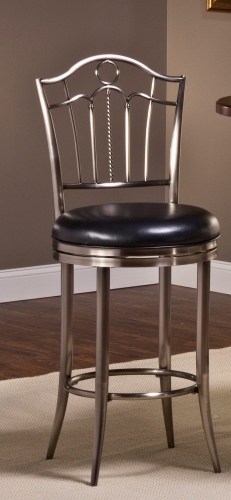 Portland Swivel Bar Stool - Antique Nickel