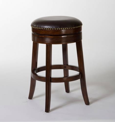 Tillman Backless Swivel Counter Stool - Espresso/Dark Brown PU