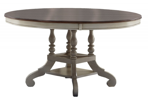 Pine Island Round Dining Table - Old White