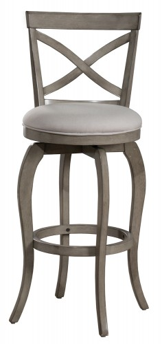 Ellendale Swivel Counter Height Stool - Aged Gray