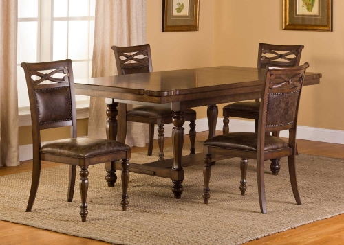 Seaton Springs 5 pc Dining Set - Weathered Walnut
