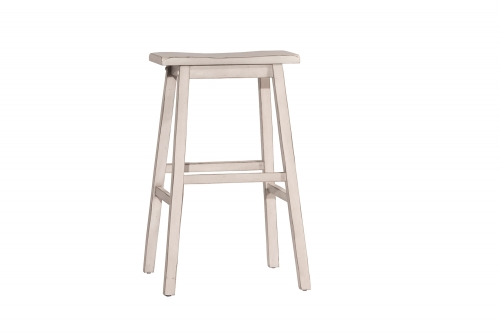 Moreno Non-Swivel Backless Counter Stool - White