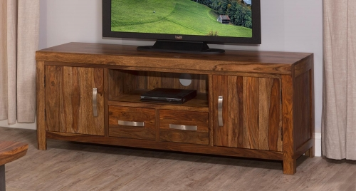 Emerson Entertainment Center - Natural Sheesham