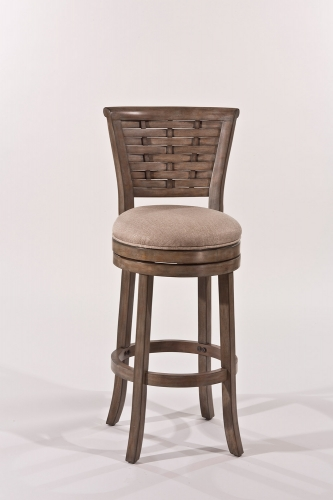 Thredson Swivel Bar Stool - Light Antique Graywash - Putty Fabric