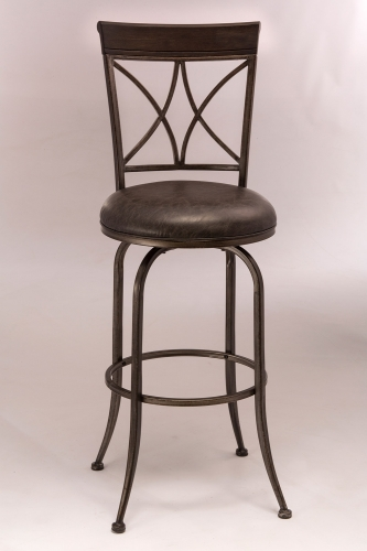 Killona Swivel Counter Stool - Antique Pewter