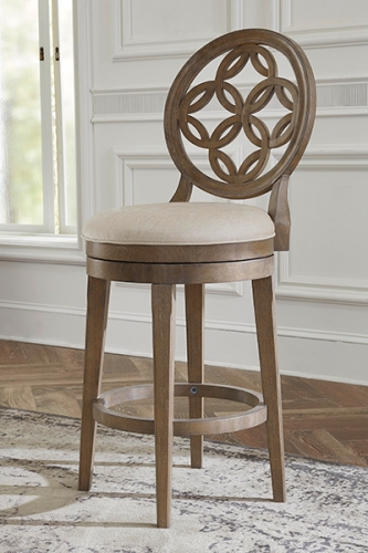 Savona Swivel Bar Stool - Vintage Gray