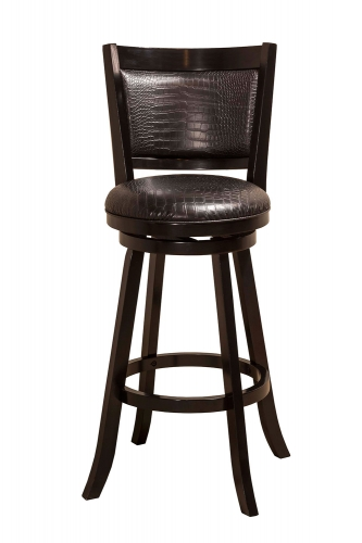 Brannon Swivel Counter Stool - Black