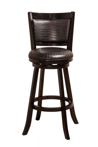 Brannon Swivel Bar Stool - Black