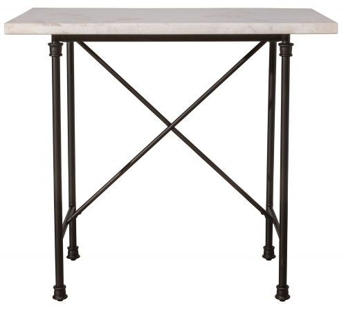 Castille Counter Height Table - Black/White