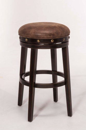 Benard Backless Bar Stool - Deep Smoke Brown