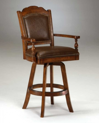 Nassau Swivel Game Leather Game Bar Stool