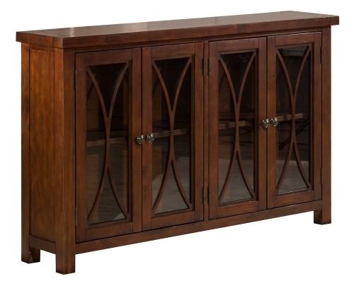 Bayside 4-Door Cabinet - Rustic Mahogany