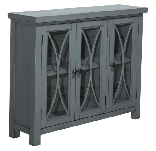 Bayside 3-Door Cabinet - Robin Blue
