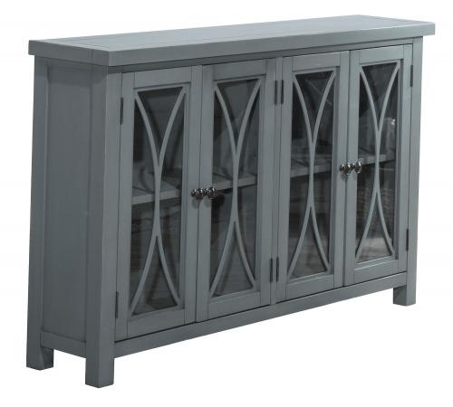 Bayside 4-Door Cabinet - Robin Blue