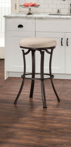 Bryce Indoor/Outdoor Backless Swivel Counter Stool - Midnight Mocha