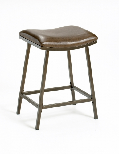 Saddle Bar Stool with Nested Leg