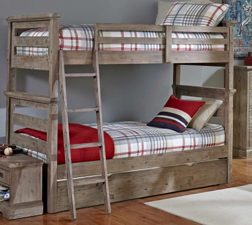 Oxford Oliver Twin Over Twin Bunk Bed With Trundle - Cocoa