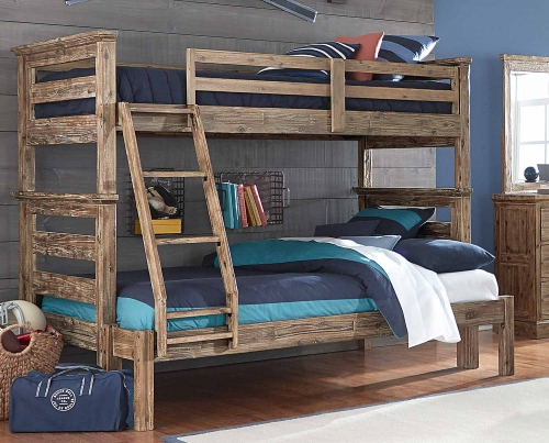 Oxford Oliver Twin Over Full Bunk Bed - Cocoa