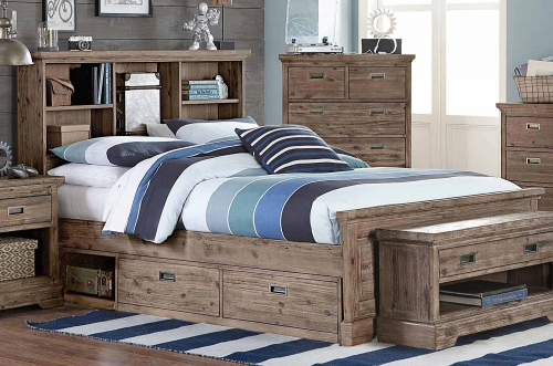 Oxford Bookcase Bed With Storage - Cocoa