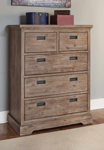 Oxford 5 Drawer Chest - Cocoa