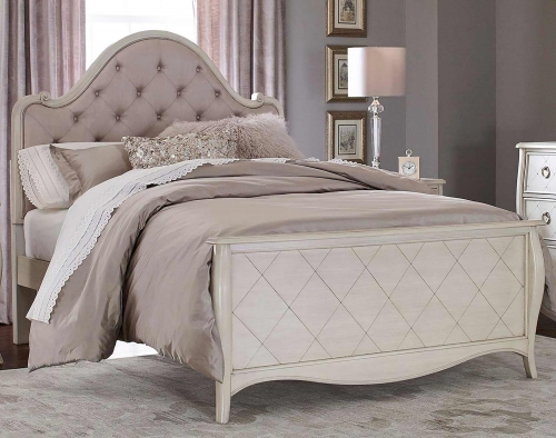 Angela Arc Upholstered Bed - Opal Grey