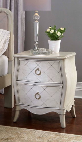 Angela Nightstand With 2 Drawers - Opal Grey