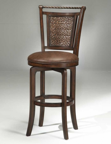Norwood Copper Back Swivel Bar Stool