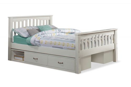 Highlands Harper Bed with (2) Storage Units - White
