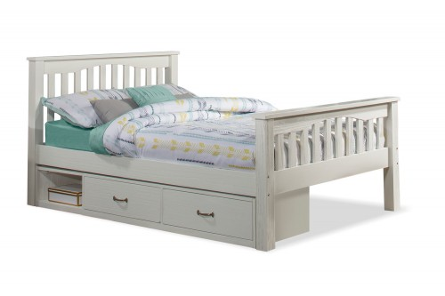 Highlands Harper Bed with Storage Unit - White