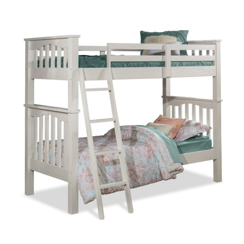 Highlands Haper Twin/Twin Bunk Bed - White Finish