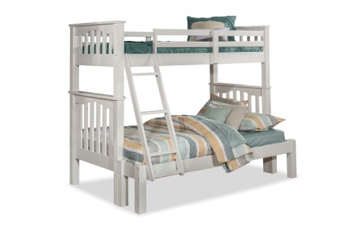 Highlands Harper Twin/Full Bunk Bed - White Finish