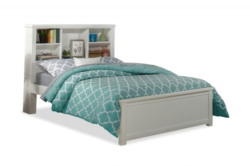 Highlands Bookcase Bed - White