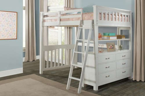 Highlands Loft Bed - White