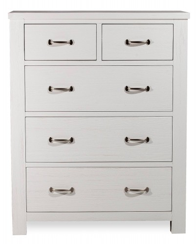 Highlands 5 Drawer Chest - White Finish