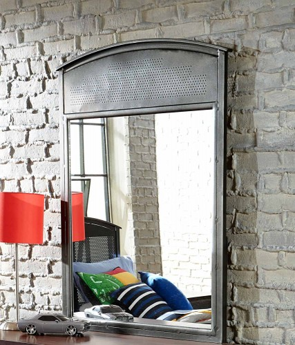 Urban Quarters Mirror - Black Steel